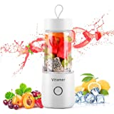 Portable Blender Personal Size Blender,Personal Juicer with USB Rechargeable,Cordless Juicer Personal Blender,Mini Mixer with Cup,Fruit Vegetable Juice Blender,Easy to Clean Fruit Juicer Suitable Travel,Home,Office(Small,BPA Free,USB,350ml,12oz,White) (Color: white)