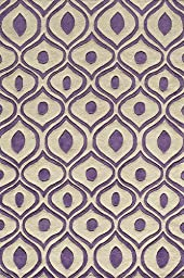 Bliss Collection 100% Polyester Chinese Hand Tufted Carpet/Rug Color:PURPLE Size:2\'-0\
