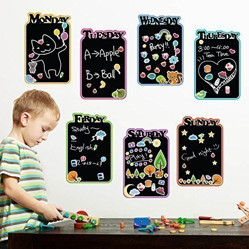 Walplus Kids Diary Blackboard Wall Stickers, Home Decoration ,100Cm X 65Cm ,Pvc, Removable, Black - 1