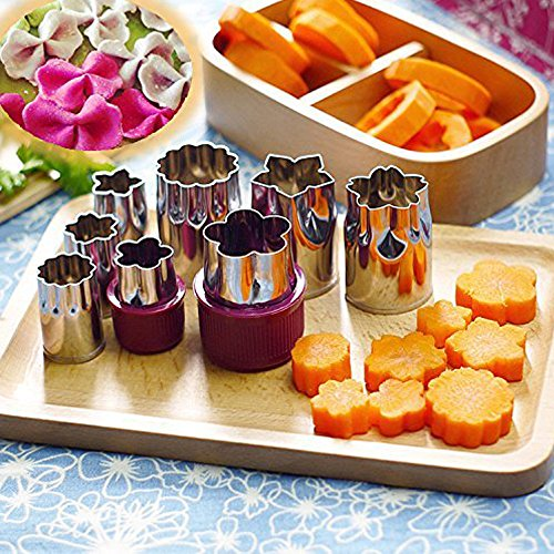 Stainless Steel Fruits Food Cookies Vegetable Cutter Shapes Mold Bake Set 7 PCS