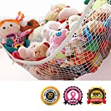 MiniOwls Storage Hammock XLarge Toy Organizer (also comes in Large) High Quality De-cluttering Solution & Inexpensive Idea for Every Room at Home or Facility - 3% is Donated to Cancer Foundation