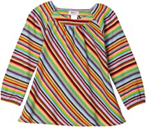 Zutano Girls 2-6X Zutano Long Sleeve Viola Top Super Stripe,Multi,3T
