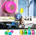 JuSp, Triangle Mini Wireless Waterproof Bluetooth Shower Speaker Hands Free Speaker for iPhone /iPad / Cellphones