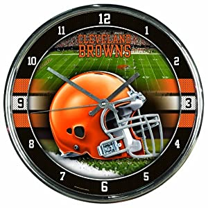 NFL Cleveland Browns Chrome Clock by WinCraft