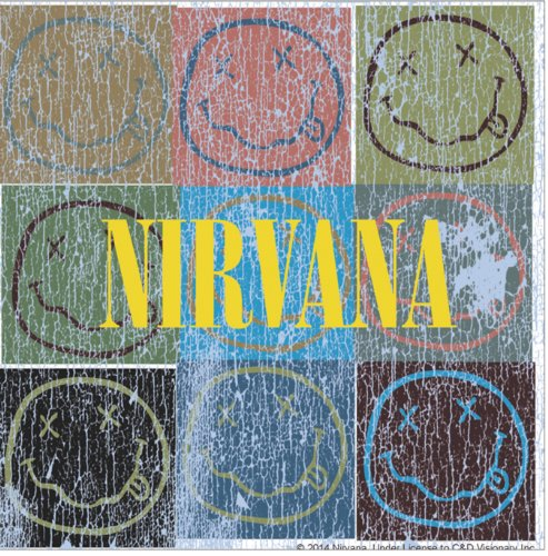 Licenses Products Nirvana Patchwork Sticker - 1