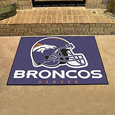 "Fan Gear Fanmats Denver Broncos All-Star Chromojet Printed Rugs 34""x45"" NFL-5716"