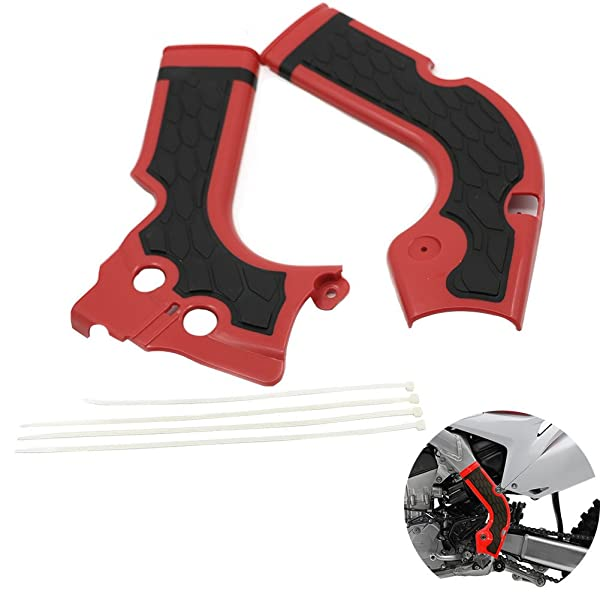 MotoParty 3 Colors For Honda CRF250R 2014-2016 CRF450R 2013-2016 CRF 250R 450R X-Grip XGrip X Grip Frame Guard Cover Blue and Red
