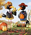 Collections Etc  Old Crow Couple Lawn Ornament Stake Girl