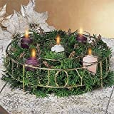 Votive Advent Wreath - Ready to Fill Peace, Love, Hope, and Joy