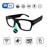 Internet Live Video Streaming Hidden Camera Glasses, Portable Eye Glasses Outdoor Body Worn Camera One Touch Working Hands Free