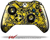 Scattered Skulls Yellow - Decal Style Skin fits Microsoft XBOX One Wireless Controller - CONTROLLER NOT INCLUDED