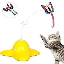 Bascolor Rotating Butterfly Cat Toys
