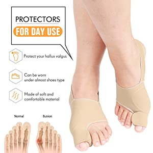 Bunion Corrector Big Toe - Bunion Splints Pain Relief - Hallux Valgus Treatment Kit Protector - Bunions Pads Toe Spacer for Women & Men (S Size(5-7.5)) (Tamaño: Small)