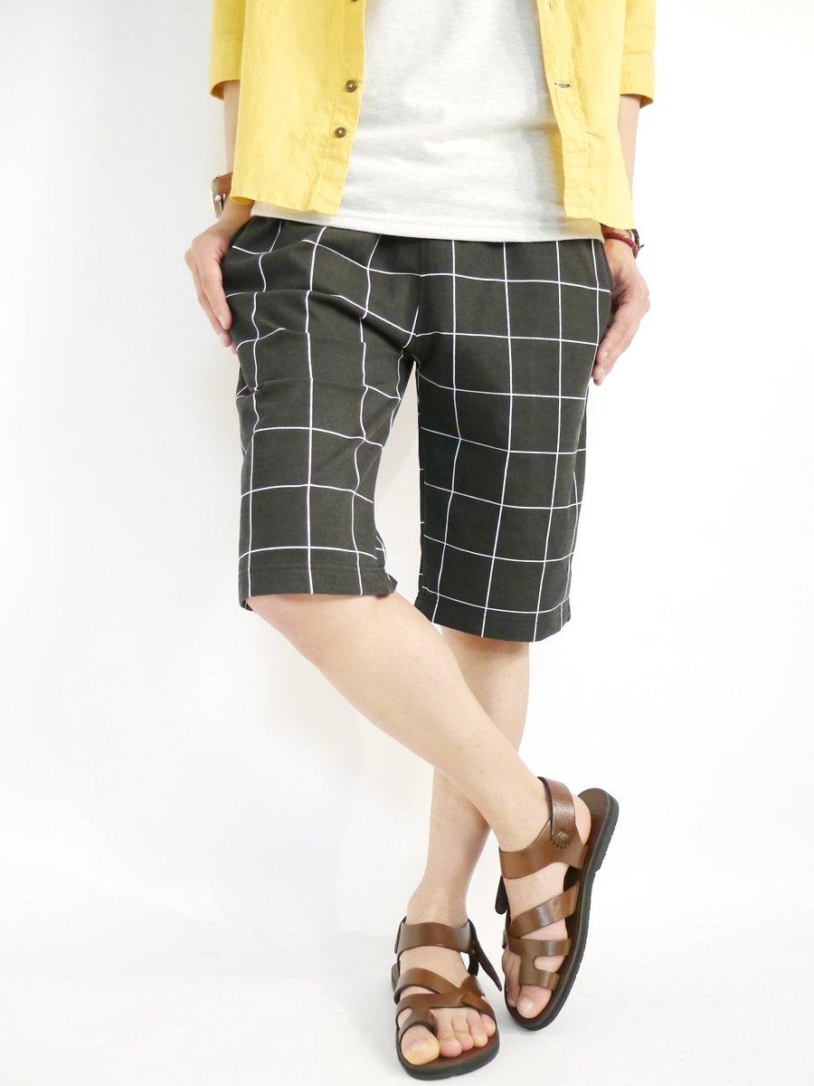 (モノマート) MONO-MART スリムフィット チノ ショートパンツ デザイナーズ ショーパン 膝丈 ロールアップ 夏 カラー 丈 短パン ショーツ 迷彩 ウィンドペン メンズ