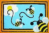 Jellybean Busy Bees Indoor Outdoor Accent Rug - 21
