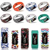 AmababaTM2PCS-Replacement-Bands-with-Metal-Clasps-for-Garmin-VivofitNo-tracker-Replacement-Bands-Only-Tatoo-FlowersCute-Owles-Large