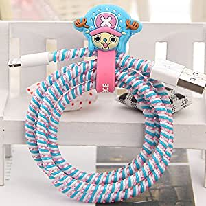 Tospania DIY Cartoon Style Spiral Wire Protectors for Apple Lightning Cables Samsung and other Tablet Charging Cables Earphone Cords and More Mickey Chopper