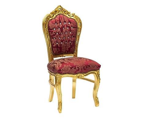 Sedia barocco oro e rosso