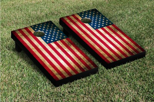 Country Flag Cornhole Game Set Country: United States delaware ud blue hens cornhole game set baseball vintage version