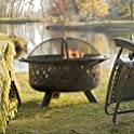 "Red Ember 36"" Bronze Burning Fire Pit"