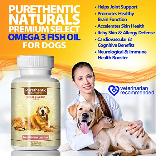 Omega 3 for dogs fish oil for dogs 180 softgels w pure for Dog food with fish oil