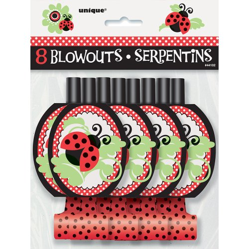 Ladybug Party Blowouts, 8ct (Red Birthday Blowers compare prices)