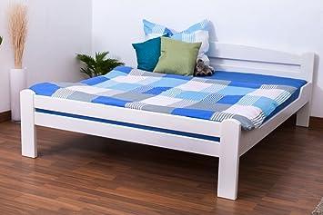 "Lit double ""Easy Sleep®"" K4 160 x 200 cm en hêtre massif laqué en blanc"