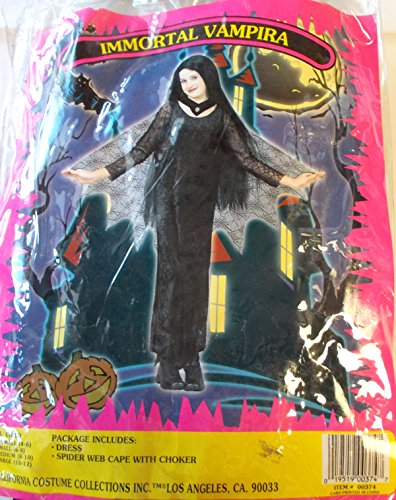 Immortal Vampira Child Costume X-Small 4-6 NIP
