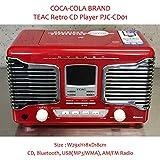 コカコーラブランド レトロCDプレイヤー Bluetooth、USB 対応(PJC-CD01) /COCA-COLA BRAND/Bluetooth/ジュークボックス/アメリカン雑貨 アメリカ雑貨 コカ・コーラ
