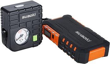 Suaoki 600A Peak Car Jump Starter w/Air Compressor & Flashlight