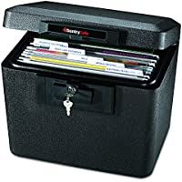 SentrySafe 1170BLK 1/2 Hour Fireproof 0.61 Cubic Feet Security File Safe (Black)