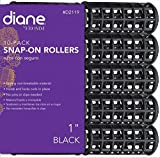 Diane Snap-on Rollers 1 Inch 10 Rollers Per Bag, Made from the highest quality non-breakable material, No pins or clips needed, Holds and locks curls in place