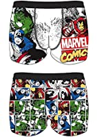 (1 Pair) Mens Marvel Comic Novelty Character Boxer Trunks