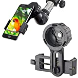 Cell Phone Adapter Mount - Tiaoyeer Cellphone Smartphone Quick Photography Adapter Mount Compatible Binocular Monocular Spotting Scope Telescope Micro