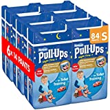 Huggies Pull-Ups Night-Time for Boys, Small, 14 Pants for Toilet Training (Pack of 6, Total 84 Pants)