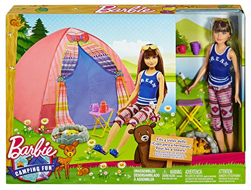 Barbie-Camping-Fun-Tent-Skipper-Doll-and-Accessories-NEW-For-2016