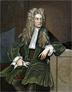 Canvas print 40 x 50 cm: Sir Isaac Newton by Granger Collection - ready-to-hang wall picture, stretched on canvas frame, printed image on pure canvas fabric, canvas print