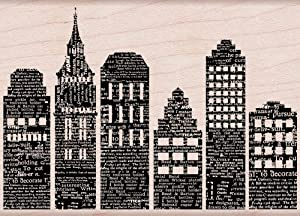 Hero Arts Skyline Woodblock Decorative Stamp
