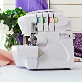 Crafter's Companion Gemini Lock Pro Serger, Color-Coded Threading Guide, Dial Stitch Length, Presser Foot Pressure Adjustment (Color: White)