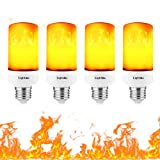 LightMe Fire Light Bulb, E27 Flame LED Light Bulbs, Lamps with Flickering Emulation Dynamic Moving for Bar Festival Party Christmas Decoration (Tamaño: 4 Pack)
