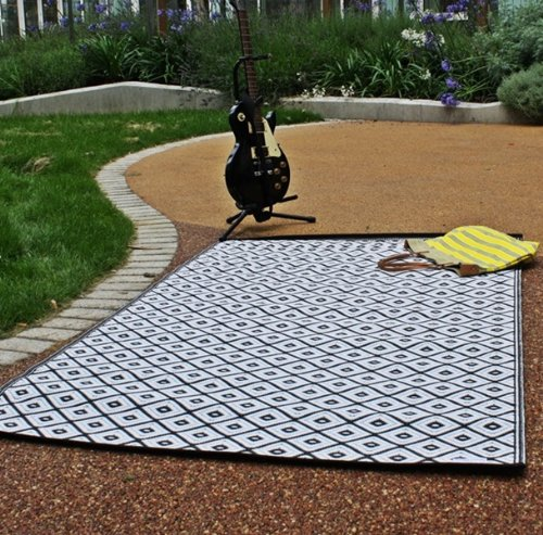 Black And White Rug Ebay Uk: New Outdoor Black And White Plastic Rug ( 3ft X 6ft )