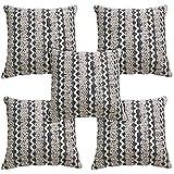 Idrape Wool 5 Piece Cushion Cover Set- Blue, 40 Cm X 40 Cm