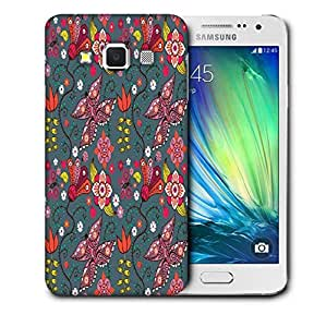 Snoogg Floral Leaves Printed Protective Phone Back Case Cover For Samsung Galaxy A3