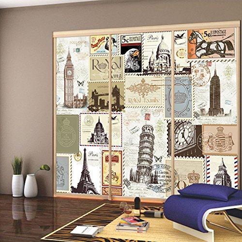 yazi benutzerdefinierte gr e veranda k che schiebet r decor aufkleber opazit t selbstklebend. Black Bedroom Furniture Sets. Home Design Ideas