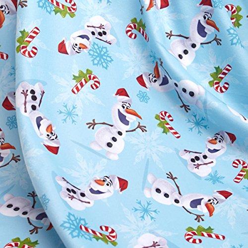 Frozen-Olaf-mensah-y-gorro-de-Pap-Noel-sudor-camiseta-de-manga-corta-de-forro-polar-azul-25-cm-extra-anchos-para-hombre-Digital-tela-por-cinta-de-doble-cara-de
