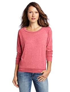 Alternative Women's Slouchy Pullover, Fuchsia, Medium