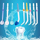 Ocamo 9 Pcs/set Dental Water Jet Tip Power Floss Dental Water Jet Nozzle for Waterpik Waterpulse