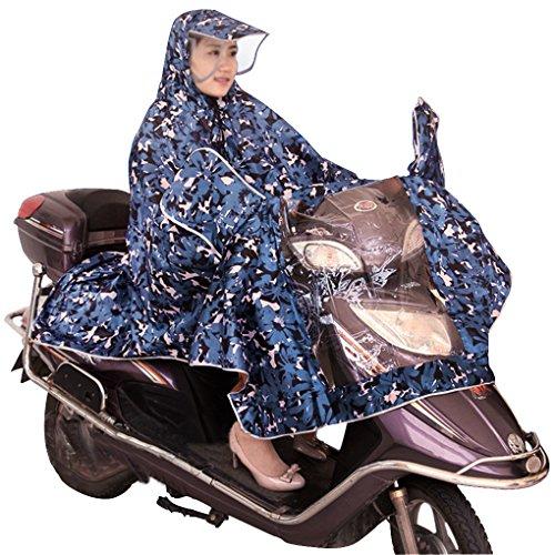 BXT-Manteau-de-Pluie-Mode-Impermable-Cape-Pour-Moto-Cyclisme-Scooter-Veste-EVA-Environnement-Poncho-Pluie-avec-Capuche-et-Manches-Coupe-Vent-Uni-Rainwear-Outdoor-Waterproof-Poncho-Over-genou-Impermabl