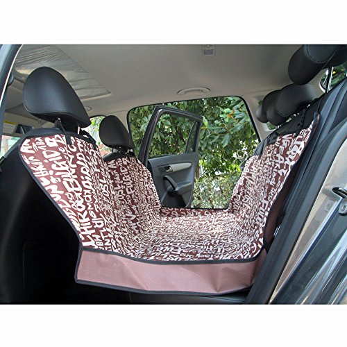pet dog car seat cover for rear bench seat passenger can still use seat belts thick hd fabric. Black Bedroom Furniture Sets. Home Design Ideas