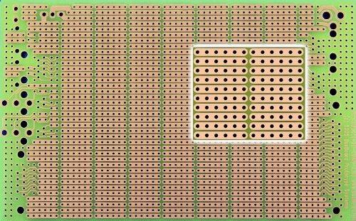 PR3UC ProtoBoard-3U-CONN, 6-Hole Strips, Connector Footprints, 1 Sided PCB, 3.94 x 6.30 in (100 x 160 mm)